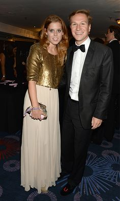At the annual Boodles Boxing Ball, the stylish princess wore a sequined gold jacket over a cream dress paired with a matching clutch – but her handsome boyfriend on her arm proved to be her best accessory! (Photo by Dominic O'Neill/Boodles Boxing Ball Committee via Getty Images)