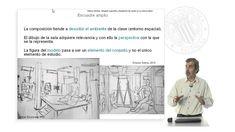 Encuadre compositivo y focalizacion del modelo en el dibujo de la figura...
