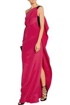Roland Mouret  Vere one-shoulder silk-crepe gown