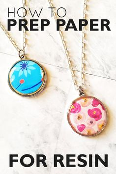 Papers like cardstock, stamps and photos look great in resin. But they need to be sealed first so the resin doesn't seep into the fibers. Learn more here! Epoxy Resin Art, Diy Resin Art, Diy Resin Crafts, Uv Resin, Resin Molds, Jewelry Crafts, Crafts To Sell, Diy Resin Beads, Silicone Molds