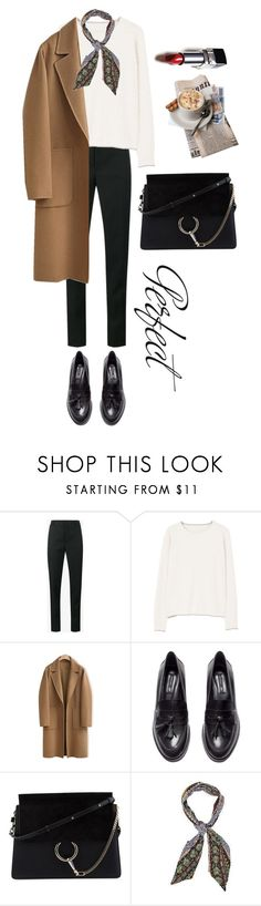 """Untitled #524"" by msbillj ❤ liked on Polyvore featuring Yves Saint Laurent, MANGO, WithChic, H&M, Chloé and Tag"
