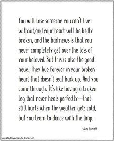 Anne Lamott, Famous Author Quotes, Losing Someone, Literary Quotes, Say What, Bad News, Get Over It, Read More, Character Inspiration
