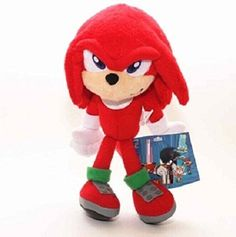 Sonic the hedgehog 23cm Red Knuckles the Echidna Soft Stuffed Plush Toy Doll Kids Gift -- Learn more by visiting the image link.