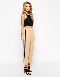 ASOS Tailored Trouser With Side Stripe