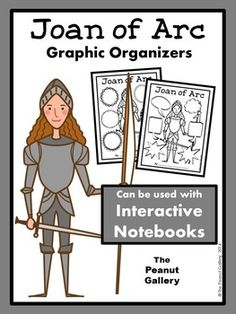 These graphic organizers for your study of Joan of Arc work well as individual student pages. In addition, they are perfect as note pages in interactive notebooks. Students can cut around the border and glue the pages into a regular spiral notebook. If you photocopy the pages at 85%, they look great in composition books as well! ($)