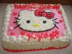 Thinking about which cake is best for your kid's birthday celebration? Well if yes, then here are some of the best and creative birthday cakes for kids. Hello Kitty Birthday Cake, Hello Kitty Cake, Cake Images, Cake Pictures, Cake Designs For Kids, Creative Birthday Cakes, Hello Kitty Images, New Cake, Cute Cakes