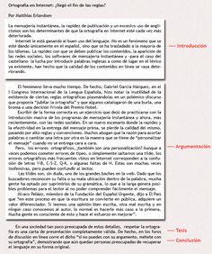 Estructura del texto argumentativo   Lengua 2