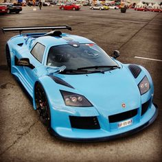 See more Gumpert apollo blue car model