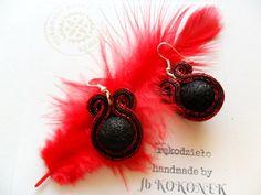 earrings / soutache technique / handmade by Kokonek on Etsy
