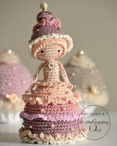 Cupcake doll crochet amigurumi Inspiratie