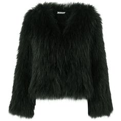 Racoon Fur Green (350.000 DKK) ❤ liked on Polyvore featuring jackets and meotine