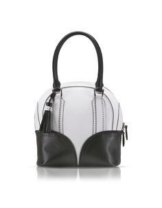 Pineider Black White 1774 Limited Edition Mini Bowling Leather Bag at  FORZIERI 94695485df342