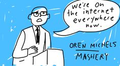 Oren Michels, CEO of Mashery speaks to lunchtime crowd #pivotcon #draw #doodlely