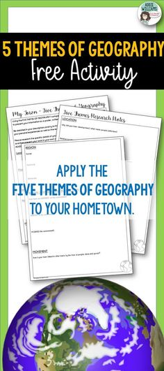 5 themes Of Geography Worksheet Five themes Of Geography Project About Your town Free 5th Grade Geography, Five Themes Of Geography, Geography Worksheets, Geography Activities, Social Studies Worksheets, Geography Lessons, Teaching Geography, Social Studies Notebook, 4th Grade Social Studies