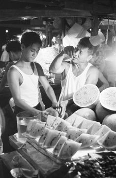 Street fruit vendor - 1963. Photo by Brian Brake.