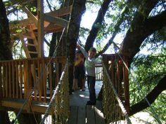 Suspension Bridge, DIY Instructions The Shepherds Farm - Treehouse