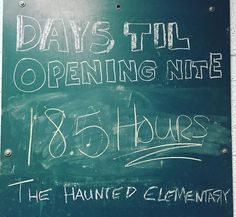 HOLY MOLY! We open in just 18.5 short hours!!! I hope everyone is ready and excited! #HauntLife #HauntedElementary #SaginawMichigan #BridgeportMichigan #Halloween #Scary