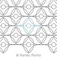 Digital Quilting Design Fancy Schmancy by Karlee Porter.