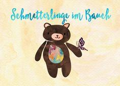 FROSCHTATZE Postkarte | Schmetterlinge im Bauch ----------------------------------------------- Kleines Extra: der 5 € Gutscheincode HEYS9PF für Hörgeschichten und Sprachlern-CDs!