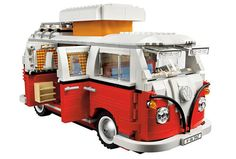 1962 VW camper. Brings back great memories. We had two vans( one orange, one brown), one super beetle, two rabbit and one golf growing up.   Yay, Lego!