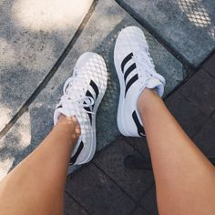 Shop Women's adidas White Black size 9 Sneakers at a discounted price at Poshmark. Description: slightly worn adidas superstars🤩 Adidas Superstar, Just Keep Walking, Swag, All About Shoes, Style Vintage, Street Style, White Shoes, Sock Shoes, Adidas Women