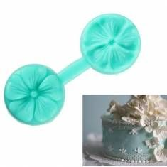Silicone Dual Side Printing Flower Cake Mold Sugar Decorating Tool