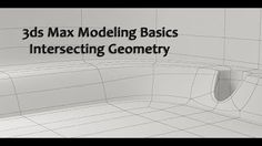 3ds Max Basic Modeling Boolean Operations - YouTube