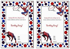 Spiderman free printable birthday party invitations birthday party spiderman birthday invitations birthday printable filmwisefo