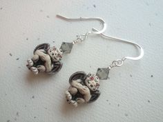 Gargoyle Earrings with Sterling Silver and by OldeTowneJewelry, $24.00
