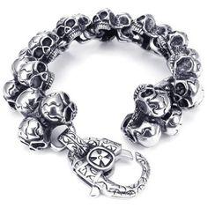 KONOV Jewelry Stainless Steel Gothic Skull Biker Men's Bracelet KONOV Jewelry,http://www.amazon.com/dp/B00DY8KV6S/ref=cm_sw_r_pi_dp_wZpPsb0ZPH9RFWCD
