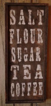 Cute barnwood sign for kitchen
