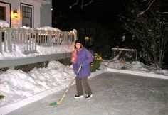 How To Build an Ice Rink in Your Yard....shut the front door! SO AWESOME!