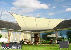 Tenda a Vela Kookaburra® per Feste resistente all'acqua - Rettangolare 3,0m x 2,0m - Avorio