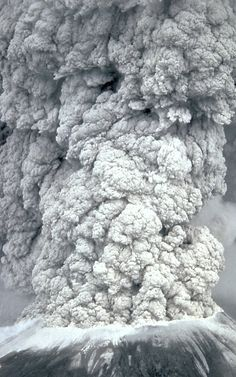 Mount St Helens, May 18, 1980.  I was pregnant and worried about the fumes. Everyone wore masks -- even babies and dogs.