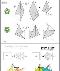 Origami And Quilling, Diy Origami, Origami Paper, 3d Paper Snowflakes, Paper Stars, Diy Paper Bag, Paper Crafts, Diy Christmas Star, Small Paper Bags