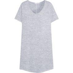 Rag & bone Melrose stretch-knit mini dress ($180) ❤ liked on Polyvore featuring dresses, grey, loose fit dress, loose dress, crew neck dress, grey mini dress and short dresses