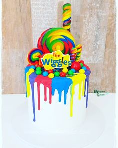 Buttercream and chocolate drip Wiggles Cake - Birthday - Girls 2nd Birthday Cake, 1st Birthday Cakes, Sons Birthday, Baby First Birthday, 2nd Birthday Parties, Birthday Celebration, Birthday Ideas, Wiggles Cake, Wiggles Party