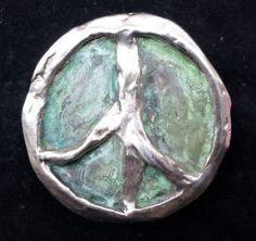 Lost wax peace sign in alpaca belt buckle Belt Buckles, Sculpture Art, Wax, Bronze, Symbols, Peace, Horses, Sign, Lost