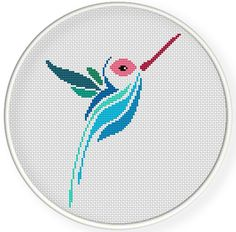 INSTANT DOWNLOAD,Free shipping,Cross stitch pattern, Cross-StitchPDF,humming bird,zxxc0592