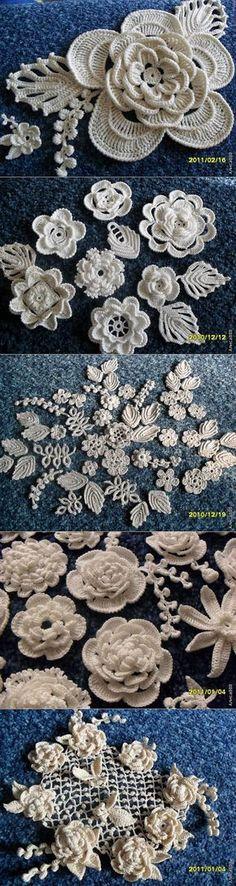 Flores tejidas                                                                                                                                                                                 Más