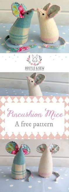Our pincushion mice are a really quick project and are perfect for beginners, as well as more advanced sewists.Download the free sewing pattern and make your very own little softies!   hand sewing   handmade pincushion   free pincushion pattern
