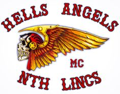 "HAMC North Lincolnshire.    81 is a Metonym, the 8th letter of the alphabet being 'H' & the 1st letter 'A' (HA=Hells Angels).  Red & White is a Metonym; Red & White are the colours of the Club. Red letters on a white background.  HA Paraphernalia is only for Club Members. No one else but HAMC is allowed to produce, sell or buy any items with the words ""Hells Angels"" &/or ""Death Head"" Logo.  http://hellsangelsmc.co.uk/"