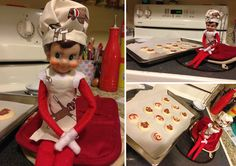 Mini cookies, mini apron, mini chef's hat, mucho cute.