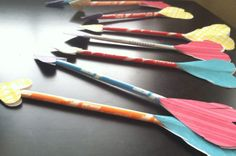 pixie sticks turn into cupid's arrows.... easy and fun!