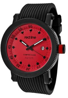 Price:$119.00 #watches Red Line 18000-05-BB, An aura of brilliance. This Red Line timepiece glows with its irradiant charm. Its smooth design will intensify anyone's personality.