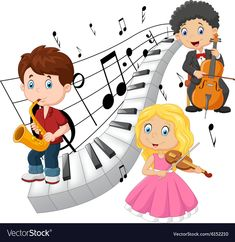 Illustration about Illustration of Little kids playing music with piano tone background. Illustration of girl, cello, piano - 60529570 Adobe Illustrator, Music Corner, Kids Slide, Kids Background, Kids Vector, My Art Studio, Music Decor, Sick Kids, Hand Art