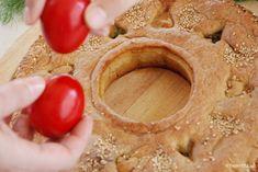 Κρεατότουρτα φρικασέ με ψητό αρνί | TasteFULL.gr Hummus, Peanut Butter, Ethnic Recipes, Food, Homemade Hummus, Meals, Yemek, Nut Butter, Eten