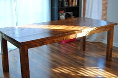 almost casual: Our New Dining Room Table