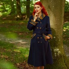 @vilmarouge is just absolutely beautiful in the Virgina-Lee navy coat.  The perfect autumn coat from the Librarian girl collection  #misscandyfloss #coat #navycoat #retrostyle #retrofashion #retro #tartan #swingcoat #autumn #newin #womenswear #womensfashion #editorial #lookbook #fashionshoot #pinupfashion #redhead #model