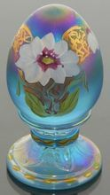 Limited Edition Fenton Art Glass Egg Paperweight